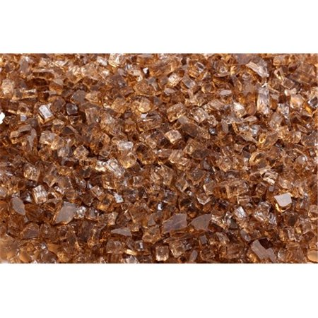 FireGlass Plus Q-C-10 Quarter Inch Copper Fire Glass, 10 Pound Bag