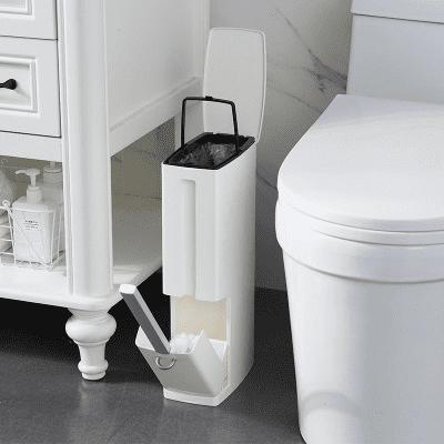 3 In 1 Removable Bathroom Trash Can Garbage Bin With Toilet Brush Waste Dustbin For Toilet Trash Can Novashion Walmart Com Walmart Com