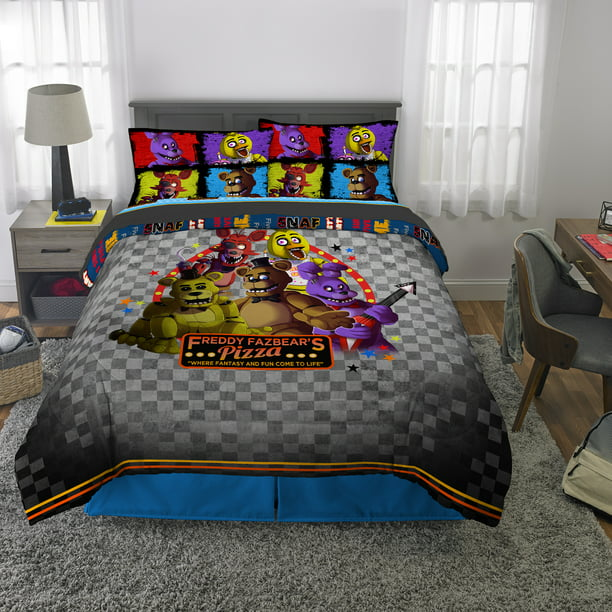 Five Nights at Freddy's Kids Bed in a Bag Bedding Set, Pizza