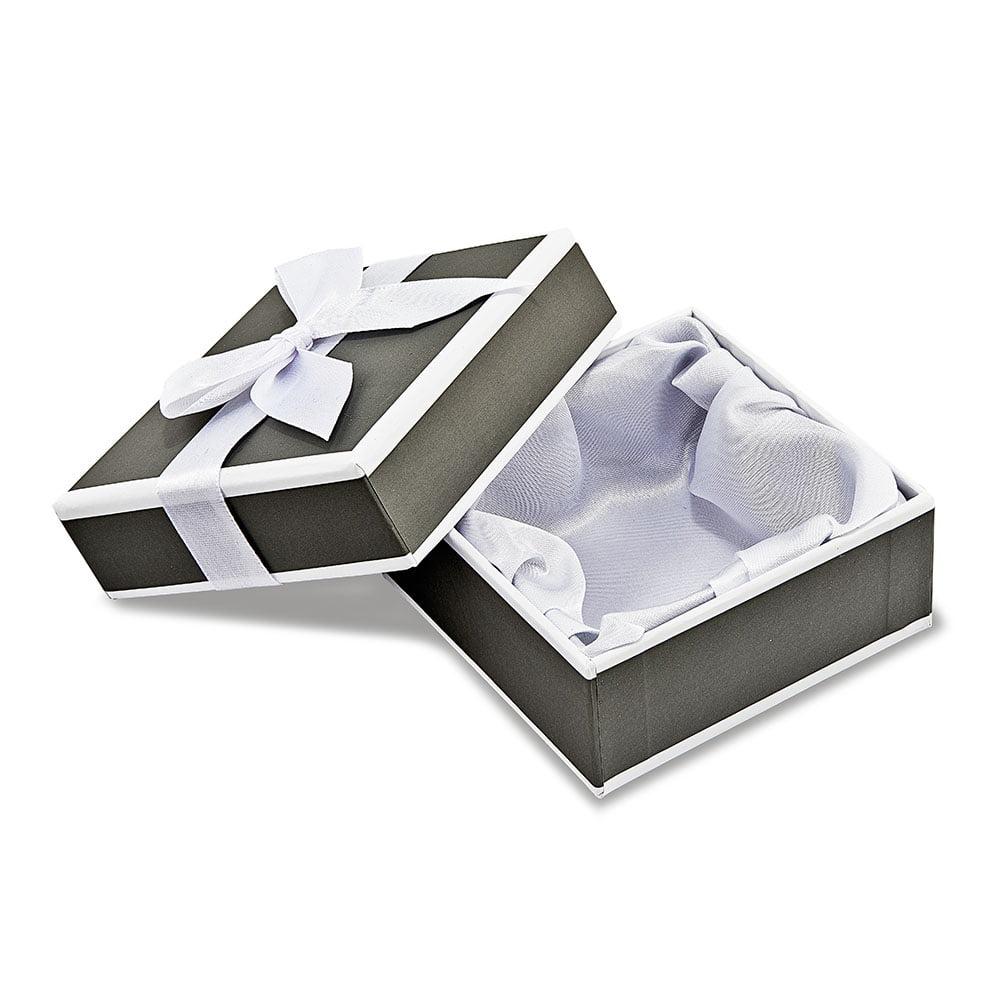 Sterling Silver /& Rose-tone Medium Polished Chain Slide
