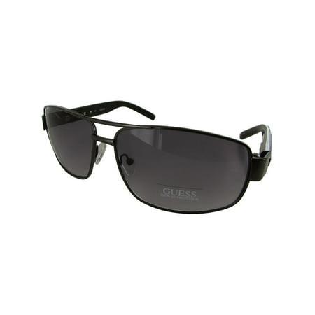 Men GU6714 Aviator Fashion Sunglasses, Gunmetal/Grey (Gray Gradient Aviators)
