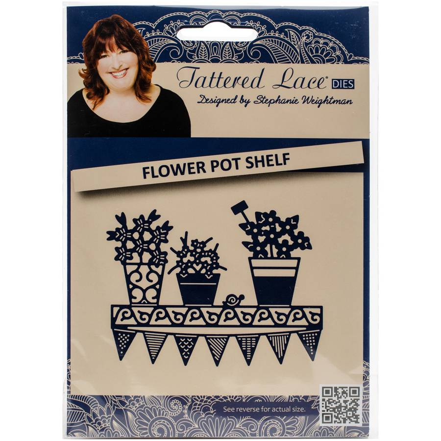 Tattered Lace Metal Die-Flower Pot Shelf