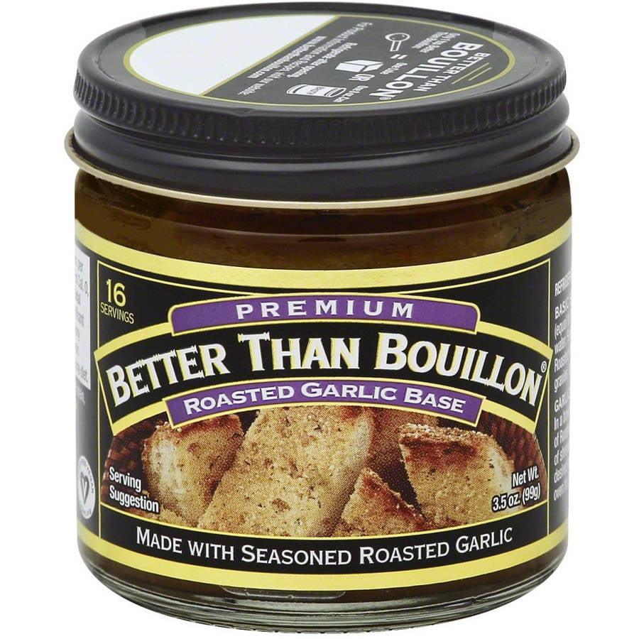 Better Than Bouillon Premium Roasted Garlic Base, 3.5 oz, (Pack of 8)