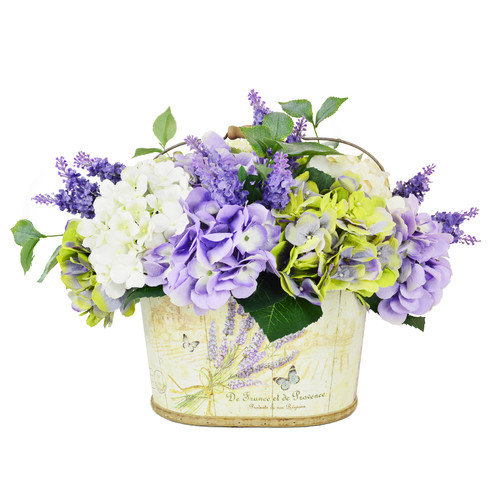 Creative Displays, Inc. Hydrangea and Lavender in Basket