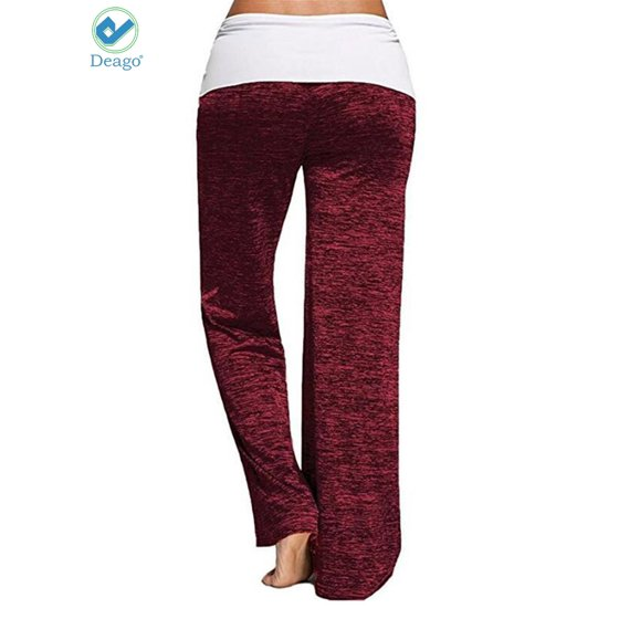 f07dcbd9d5 Deago - Deago Women's Loose Yoga Pants Elastic High Waist Drawstring ...