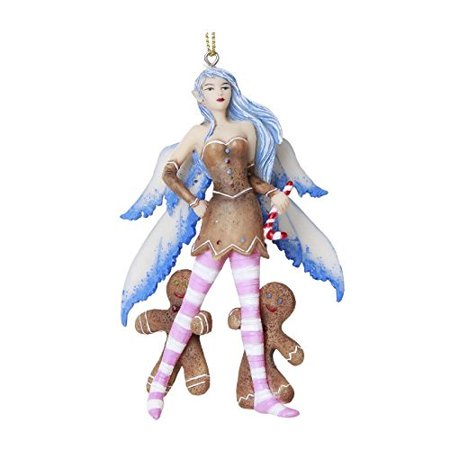 Pacific Giftware Christmas Fairy Gingerbread Men Hanging Ornament Amy Brown Holiday Collection Christmas Tree Hanging Ornaments 4 inch