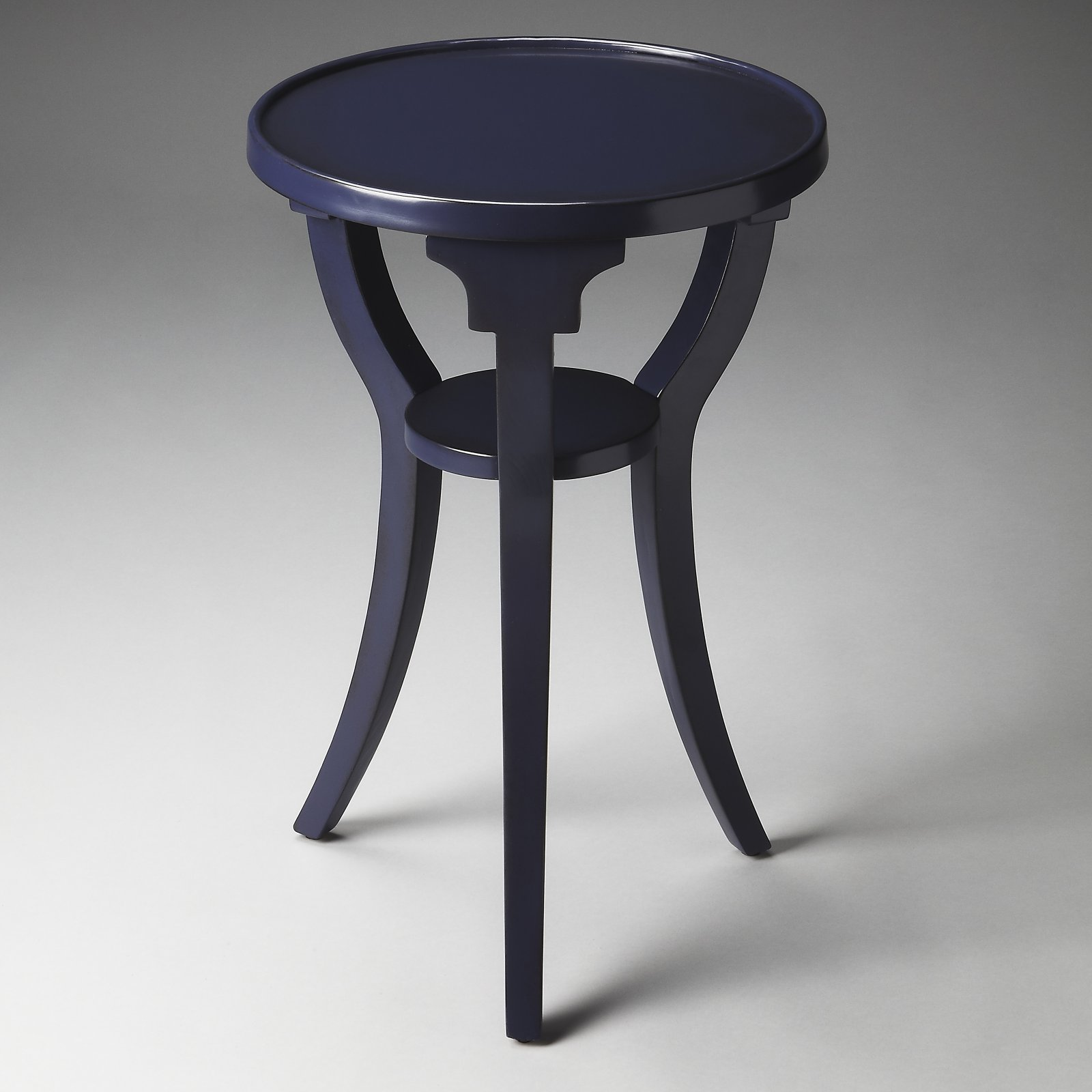 Butler Dalton Navy Round Accent Table