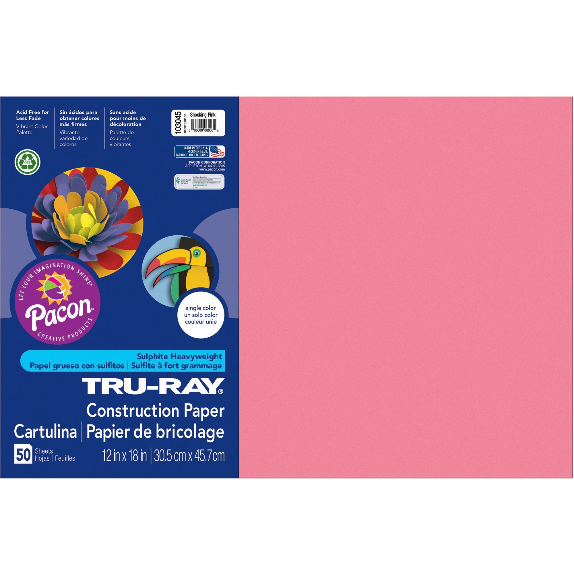 Tru-Ray, PAC103051, Heavyweight Construction Paper, 1 Pack, Purple