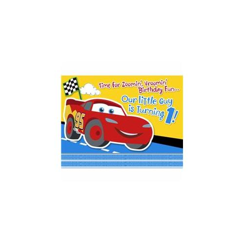 Hallmark Disney 1St Birthday Cars Invitations