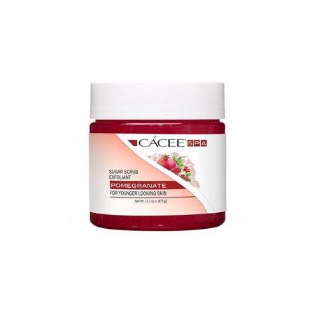 Hand, Foot, & Body Sugar Scrub Exfoliant For Natural Spa, Manicure, and Pedicure Use (Pomegranate)
