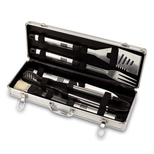 Fiero 5 Peice BBQ Tool Set With Aluminum Case