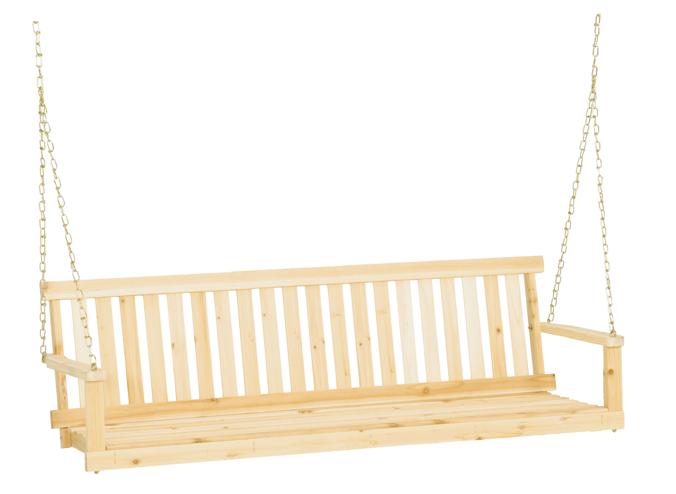 "Jack Post H-25 60""W x 22""D x 17.5""H Classic Natural Finish Porch Swing by Generic"
