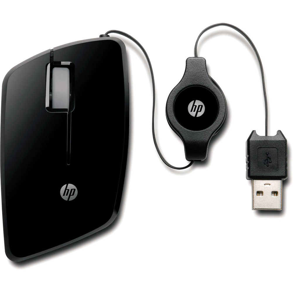 HP USB Retractable High-Precision 1000 DPI Mobile Mouse (Refurbished)