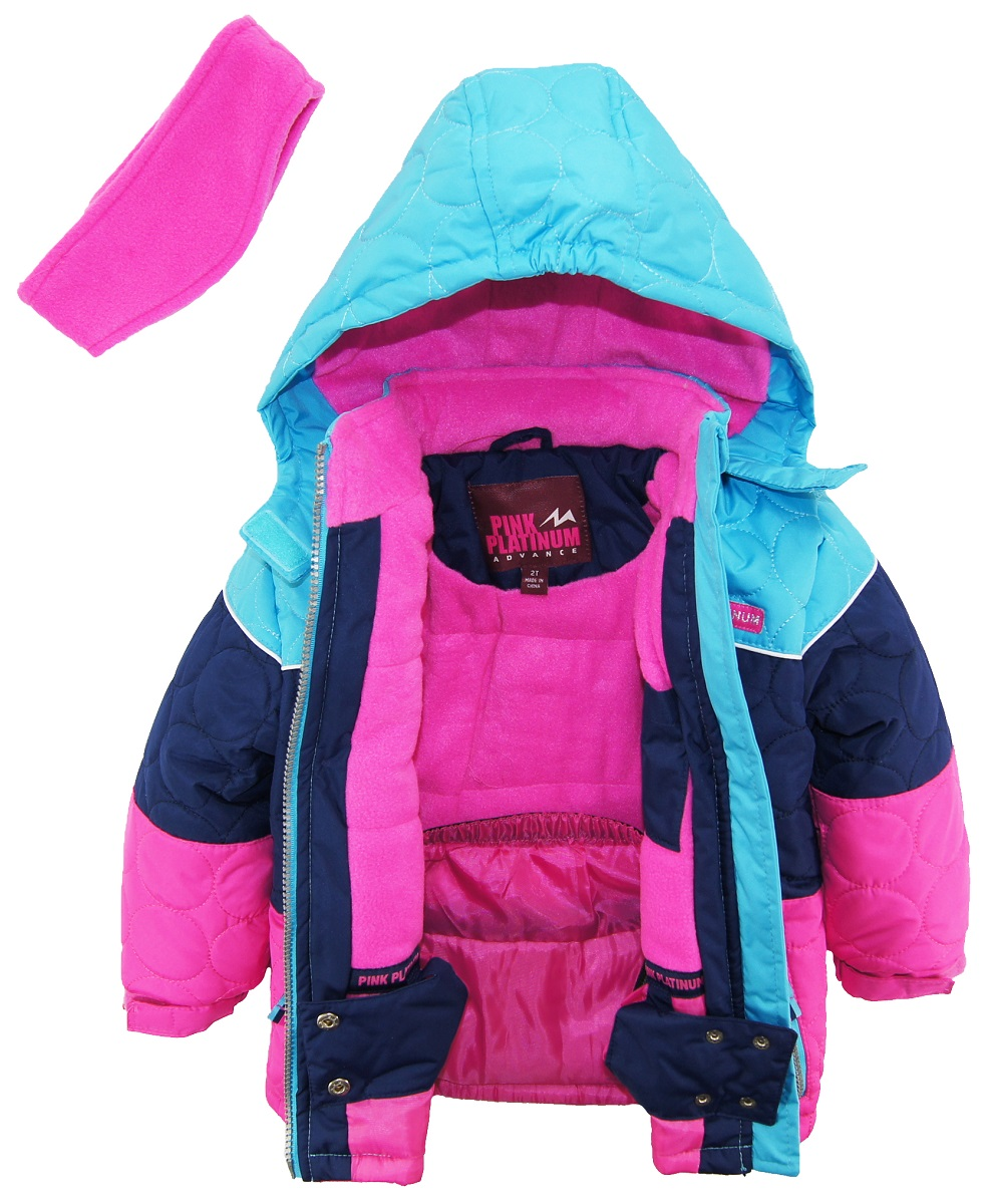 on product over aztec spring pink jacket girls twill clothing shipping shoes platinum anorak poly overstock free windbreaker orders