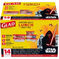 Glad Lunch Variety Pack Star Wars Food Storage Containers BPA Free, 14 Piece
