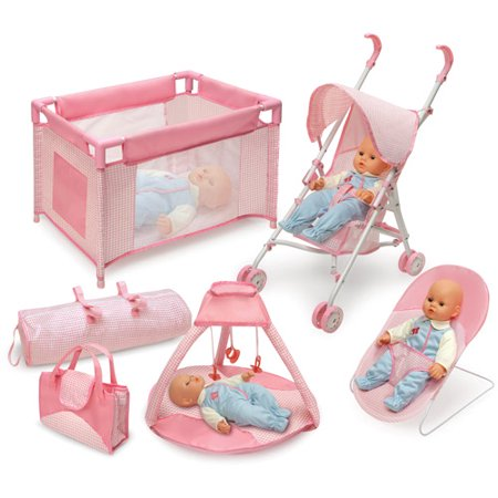 Badger Basket Doll Furniture And Accessory 5 Piece Set