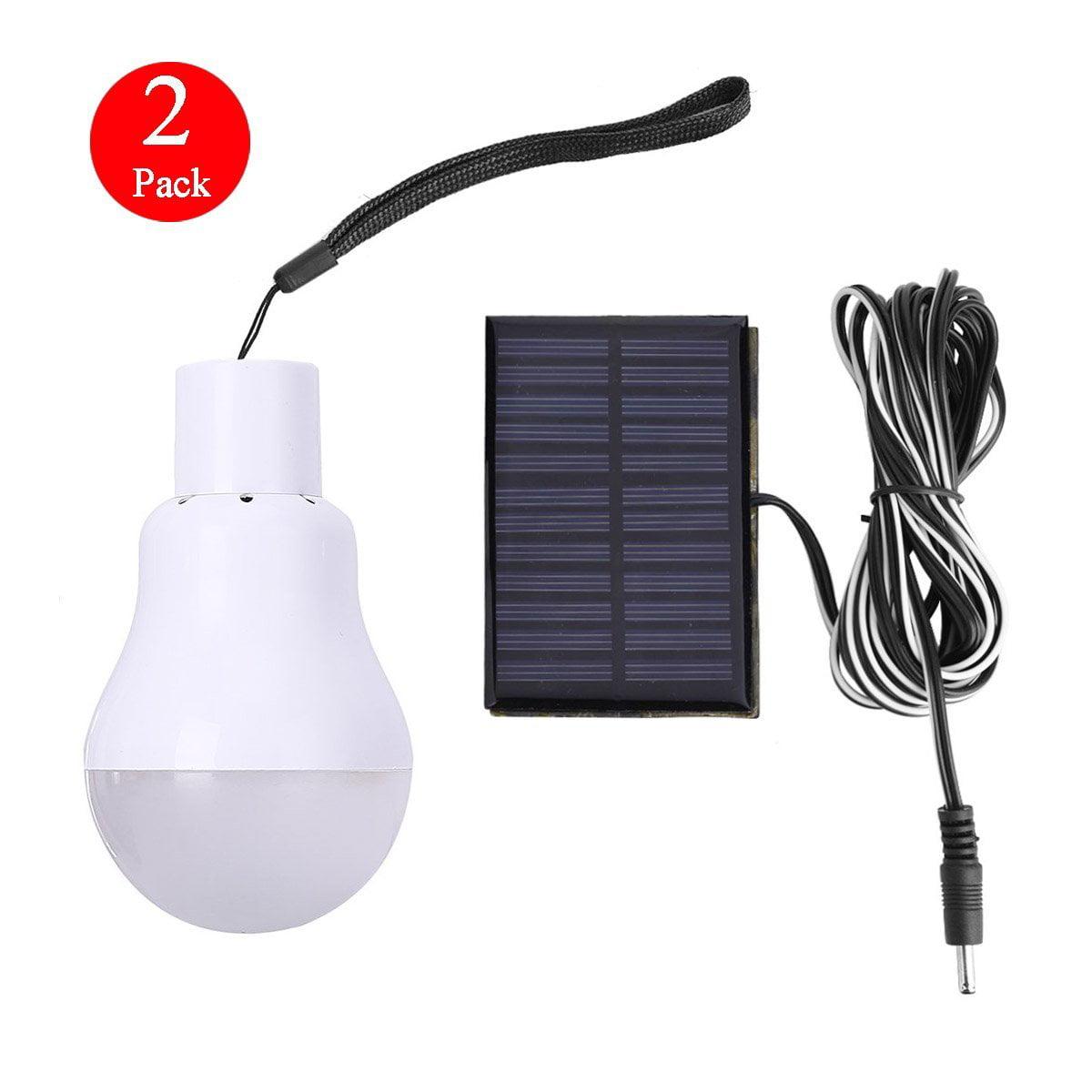 EEEKit Portable Solar Powered Led Bulb Lights Solar Energy Panel Led Lamp Lighting for Hiking Fishing Camping Tent Emergency Use