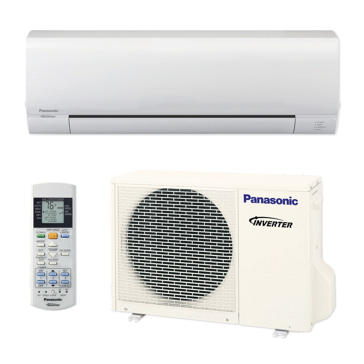 Panasonic� RE12SKUA - 12,000 BTU 16 SEER Pro Series Wall Mount Ductless Mini Split Air Conditioner Heat Pump 208-230V
