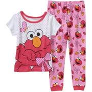 Elmo Baby Toddler Girl Short Sleeve Cotton Tight Fit Sleepwear Set