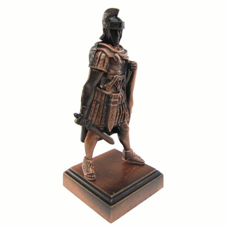 Bronze Metal Roman Gladiator w/ Warrior Mask Replica Die Cast Pencil Sharpener