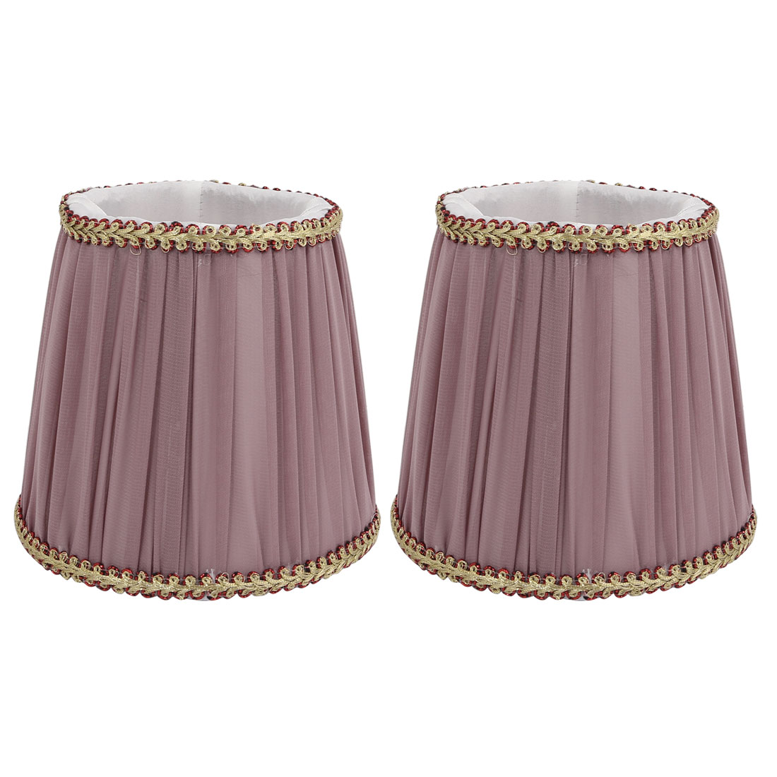 2pcs DropLight Wall Shade Chandelier Clip-On Lampshade Purple Fabric-Covered by Unique-Bargains