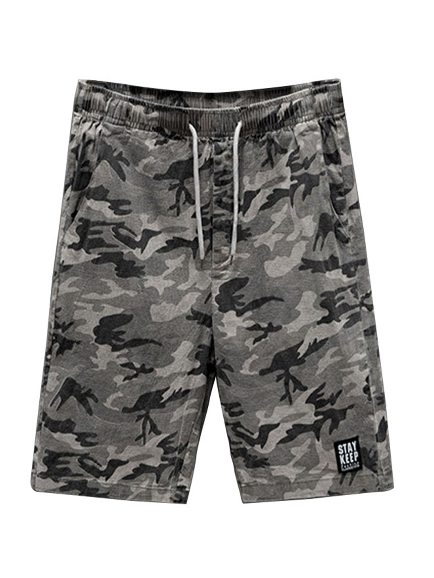 Mens Army Cargo Shorts Combat Casual Camouflage Work Cotton Summer Half Pants
