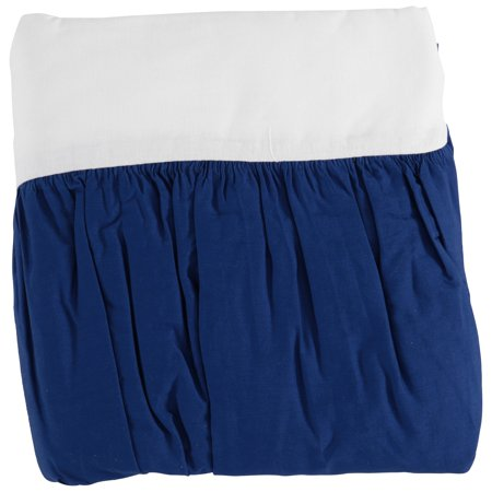 TL Care 100% Natural Cotton Percale Crib Bed Skirt, Royal, Soft Breathable, for Boys ()