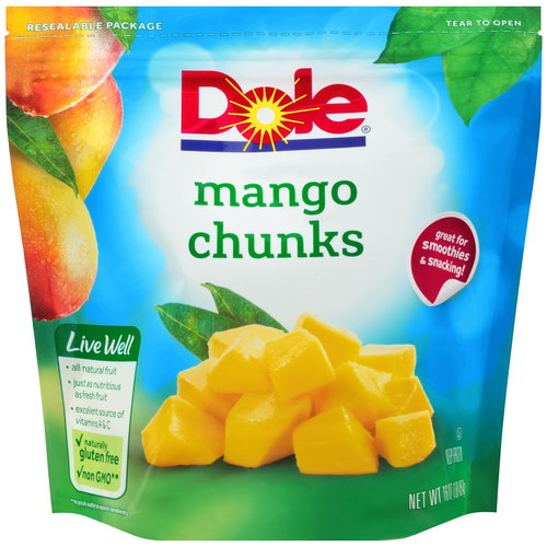 Dole Chunks All Natural Mango, 16 oz
