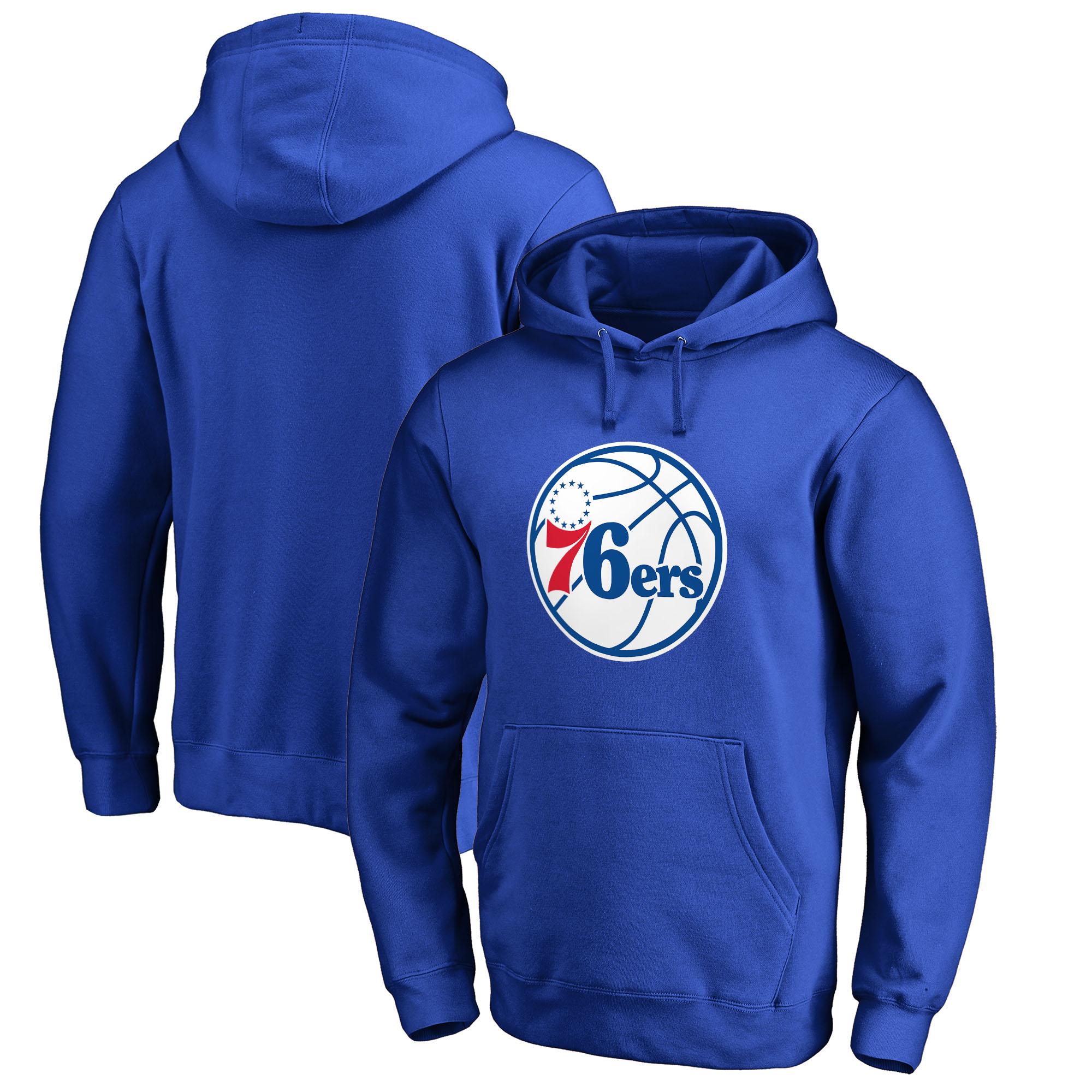 Philadelphia 76ers Fanatics Branded Big & Tall Primary Logo Pullover Hoodie - Royal