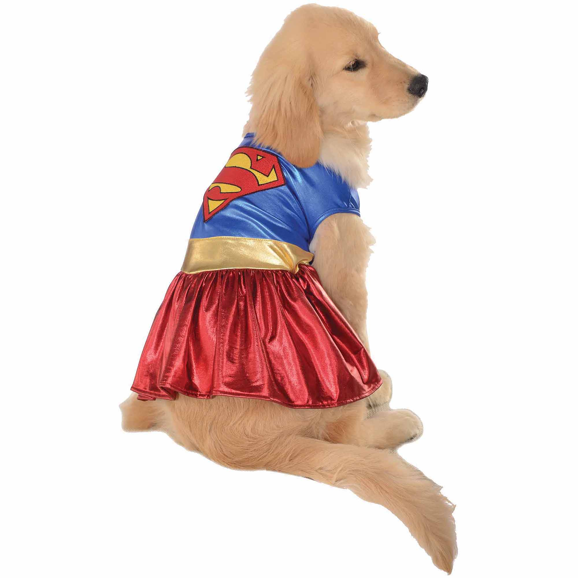 Supergirl Halloween Pet Costume (Multiple Sizes Available)