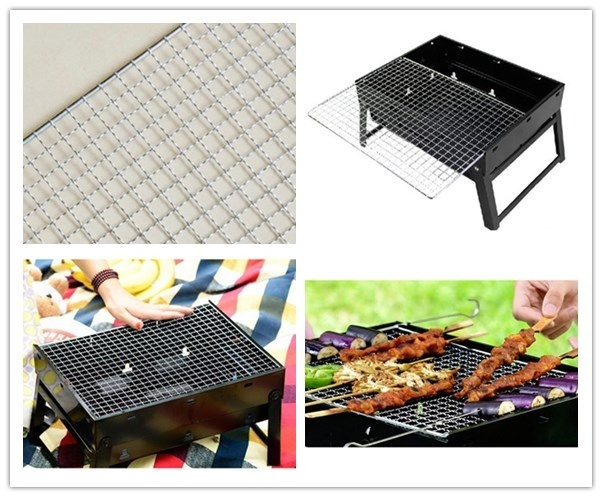 Stainless Steel BBQ Grill Grate Grid Wire Mesh Rack Cooking Net Replacement