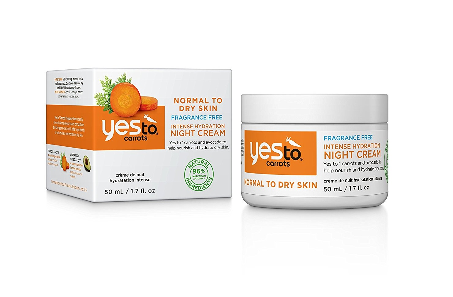 Yes To Carrots Normal To Dry Skin, Fragrance Free, Intense Hydration Night Cream, 1.7 Oz (Pack of 3) Clean & Clear Advantage Acne Treatment Control Kit For Clear Skin, Three-step acne prevention skincare regimen By Clean Clear