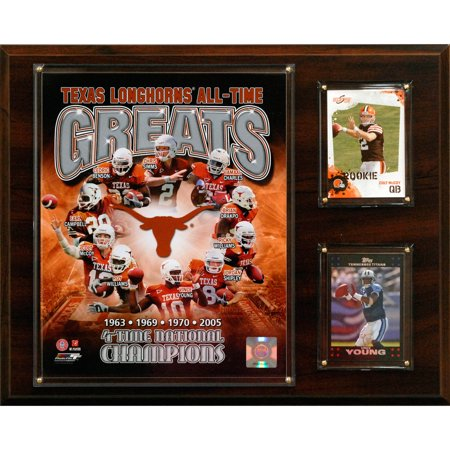 C&I Collectables NCAA Football 12x15 Texas Longhorns All-Time Greats Photo Plaque