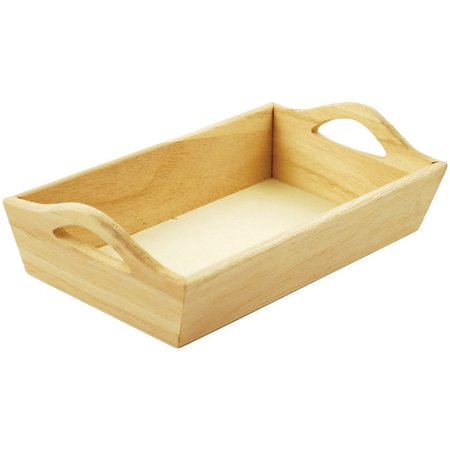 Paintable Wooden Tray W Handles 8 125 X4 625 X2 125