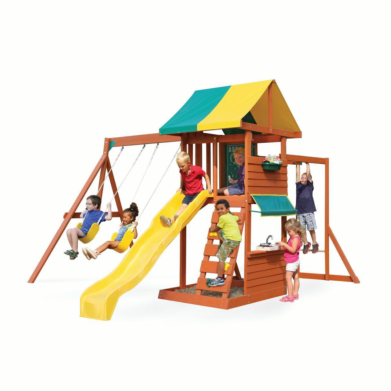 Big Backyard Hazelwood Wooden Playset by KidKraft by KidKraft