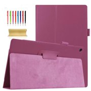 Fire HD 10 7th Gen 2017 Release Tablet Case, Dteck PU Leather Lightweight Full Protective Case With Fold Standing, Purple