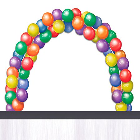 Balloon Arch Kit & Pump Inflator [BUNDLE PACK, 2 pc Kit] - 2 Table Clamps, 11 ft. Frame And Balloons Hand Air Pump For Weddings, Birthdays, Carnivals, Entryways- Party Decorating COMBO Set