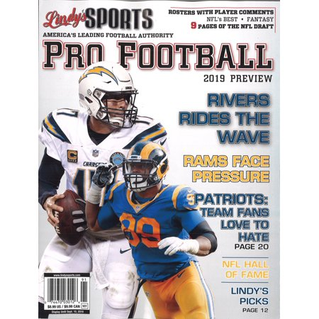 LINDY'S SPORTS 2019 PRO FOOTBALL PREVIEW (COVERS VARY) - Sports Covers