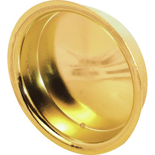 Prime-Line Products N 6765 Bypass Door Pull Handle, 1-3/4-Inch, Brass Plated,(Pack of 2)