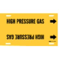 BRADY 4193-G Pipe Markr,High Pressure Gas,8to9-7/8 In