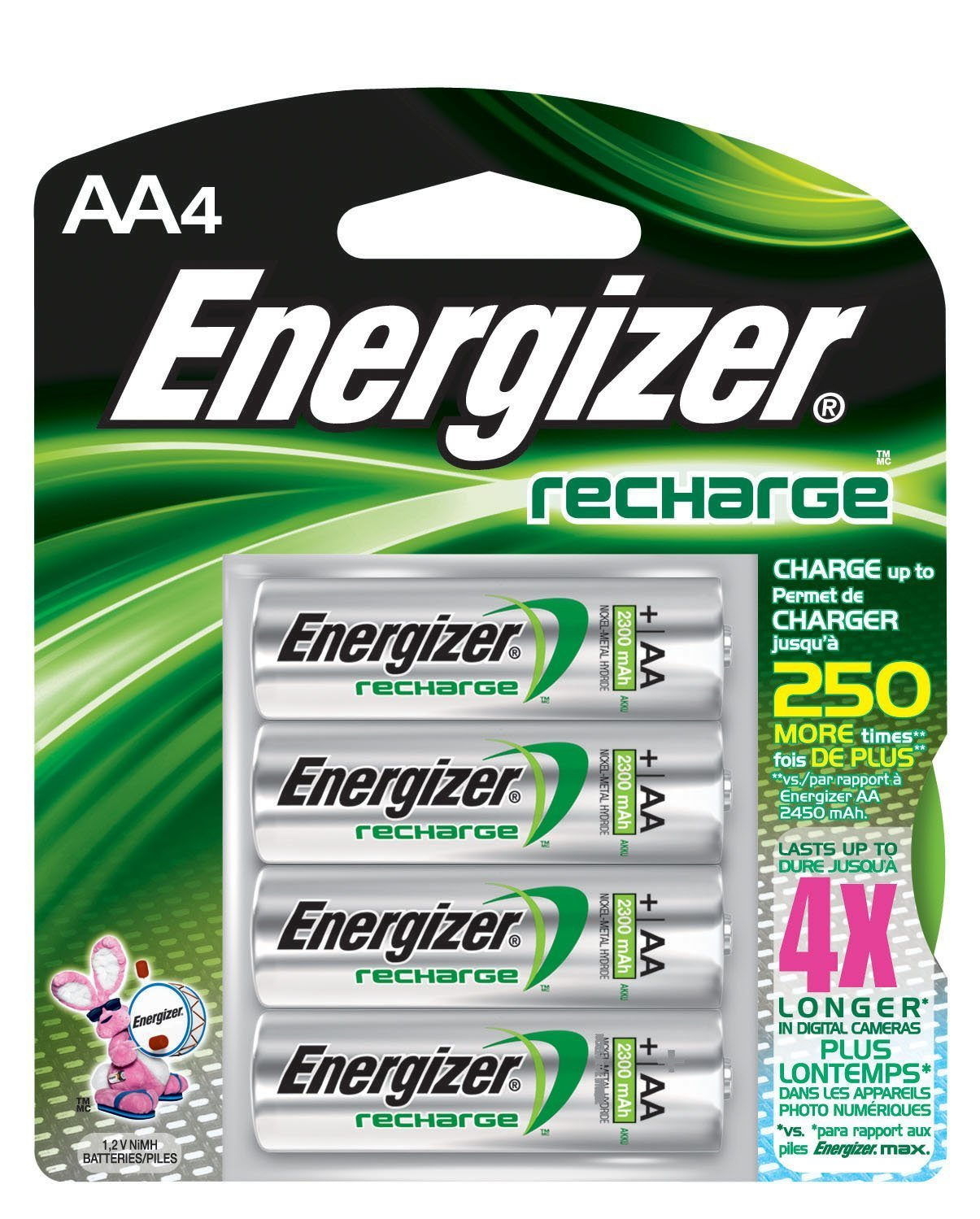 """Rechargeable Battery, No """"memory effect"""" By Eveready Battery Company, Inc by"""