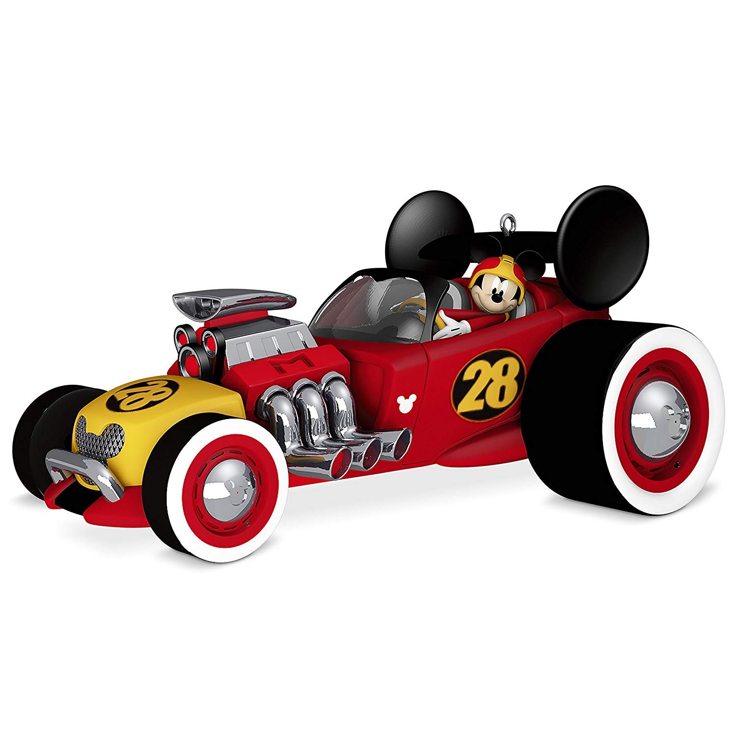 Disney Roadster Mickey Mouse Christmas Ornament Race Car ornament set of 6