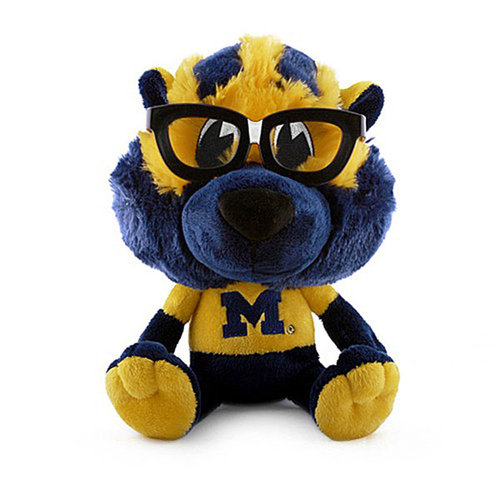 NCAA - Michigan Wolverines Plush Team Nerd