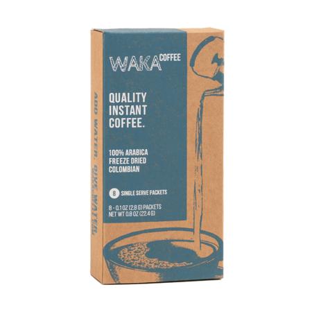 Waka Coffee 100% Columbian Arabica Medium Roast Instant Coffee Packets, 8 ct 100% Pure Instant Coffee