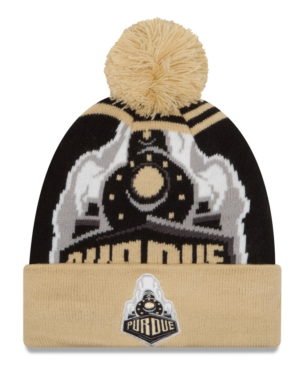 "Purdue Boilermakers New Era NCAA ""Logo Whiz 2"" Cuffed Knit Hat with Pom by New Era"