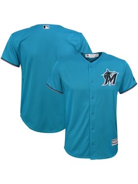 Miami Marlins Majestic Youth Alternate Official Cool Base Team Jersey - Blue