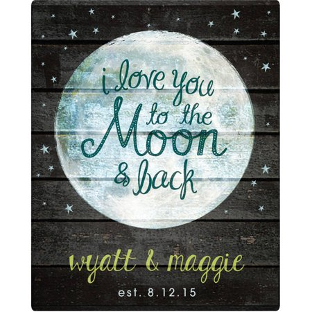 Personalized I Love You To The Moon And Back Canvas Available In Multiple Sizes