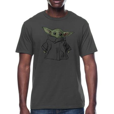 Star Wars The Child Mandalorian Standing Men's and Big Men's Graphic T-shirt