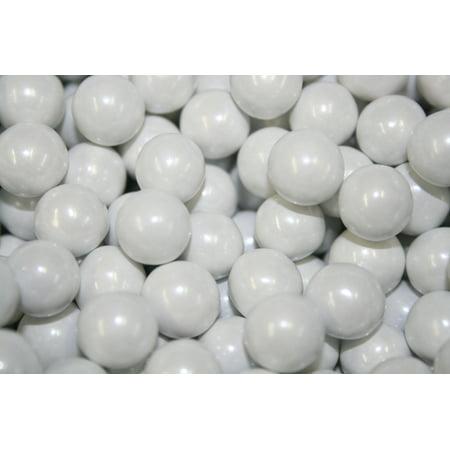 BAYSIDE CANDY SIXLETS SHIMMER WHITE , 1LB](Orange Sixlets)