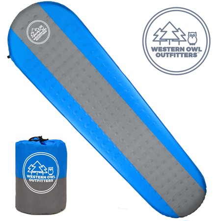 - Self Inflating Sleeping Pad by Western Owl Outfitters, for Camping, Backpacking, Hiking and Outdoors
